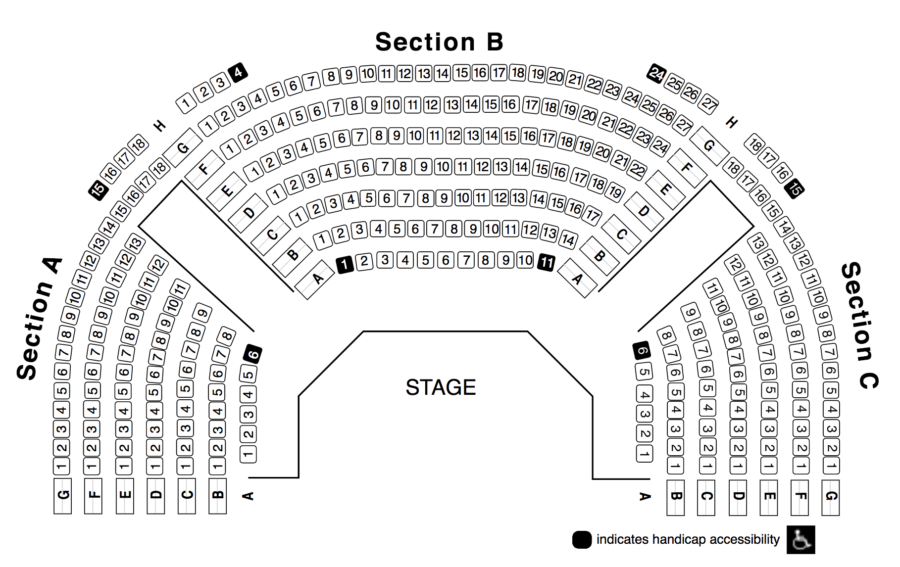 Seating chart theatre lawrence